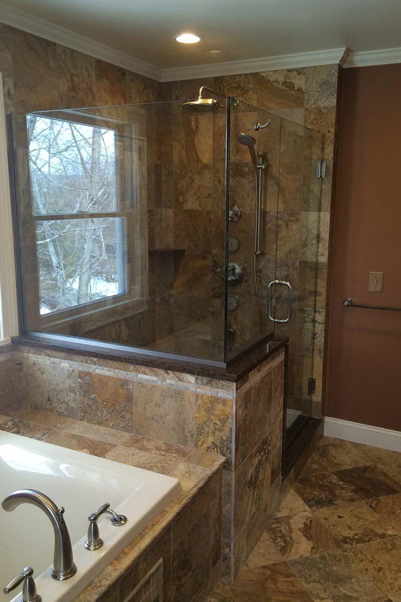 Small Elegant Bathroom Renovation Rotella