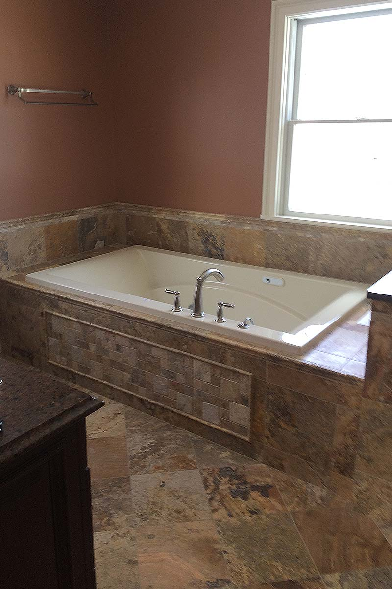 Small elegant bathroom renovation rotella for Custom tubs and showers