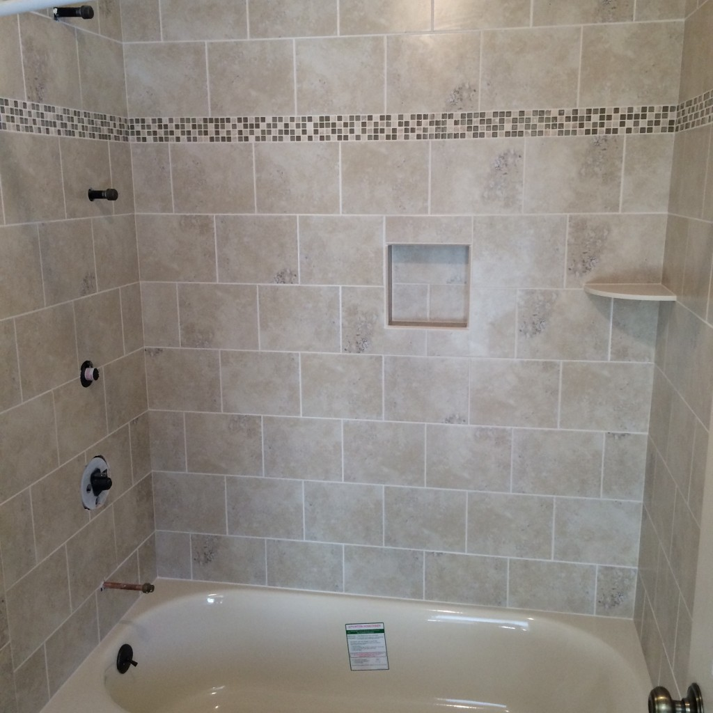 Shower tub bathroom tile ideas rotella kitchen bath Bathroom wall tile